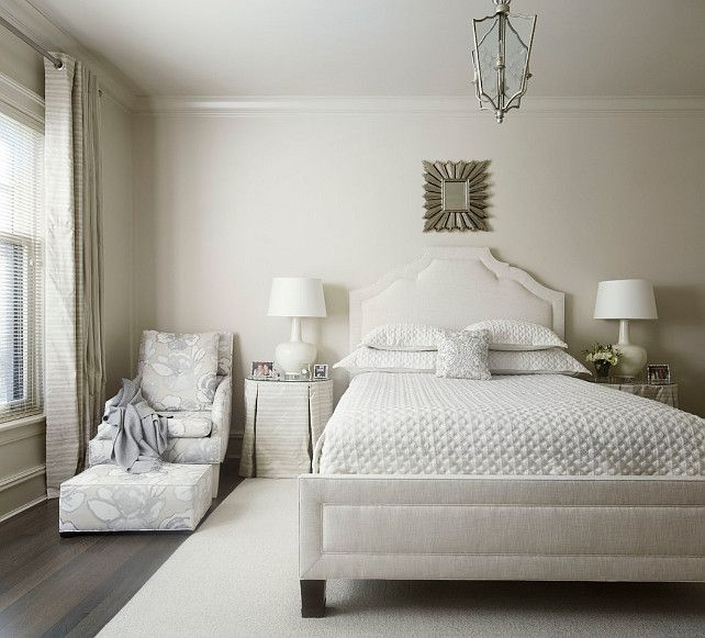 Interior Design Ideas Grey Bedroom Bedroom Apartment Decorating Ideas Interior Design Bedroom Layout Bedroom Ceiling Design Types: Benjamin Moore 1037 Muslin. Eva Quateman Interior