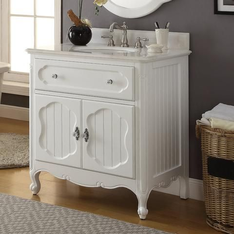 34 Benton Collection Victorian Cottage Style Knoxville Bathroom Vanity Gd 1533wt Bathroom Decor White Vanity Bathroom Single Bathroom Vanity