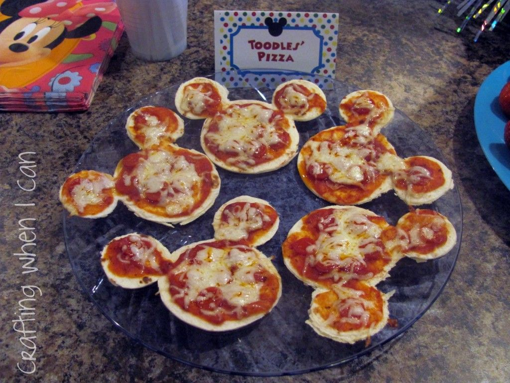 Mickey & Minnie Mouse Party Food Ideas + Free Mickey