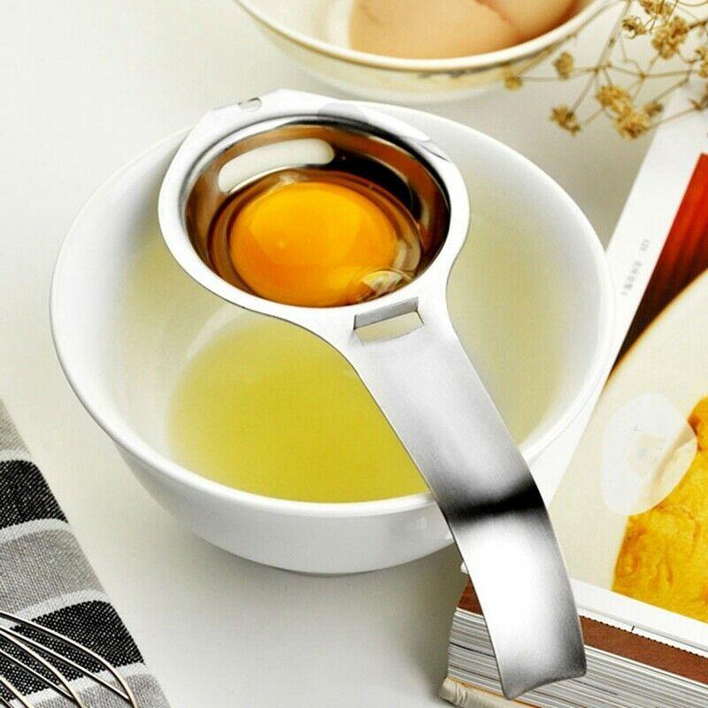 Stainless Steel Egg Yolk Filter Separator Cooking Kitchen Gadget Baking Tool