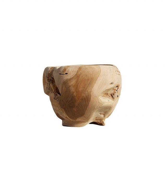 Terrain Carved Teak Urn Planter
