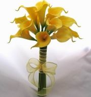 Classic Yellow Mini Calla Lily Toss Bouquet