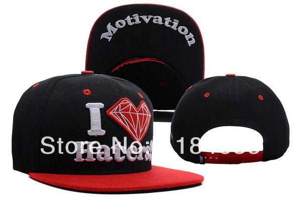 a8b6f44e759 1pc lot DGK X Diamond Supply Co. Snapback basketball hats black red men s adjustable  caps dgk i love haters hat Free shipping  9.99