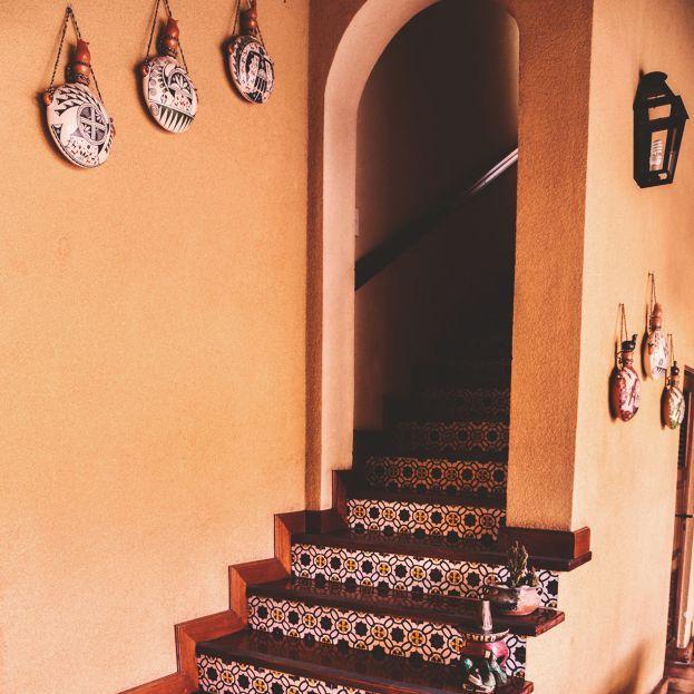 Detalle de Escalera en Villa Vicuña Cafayate