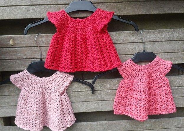 Lindevrouwsweb Babyjurkjes Haken Haken Poppenkleding Pinterest