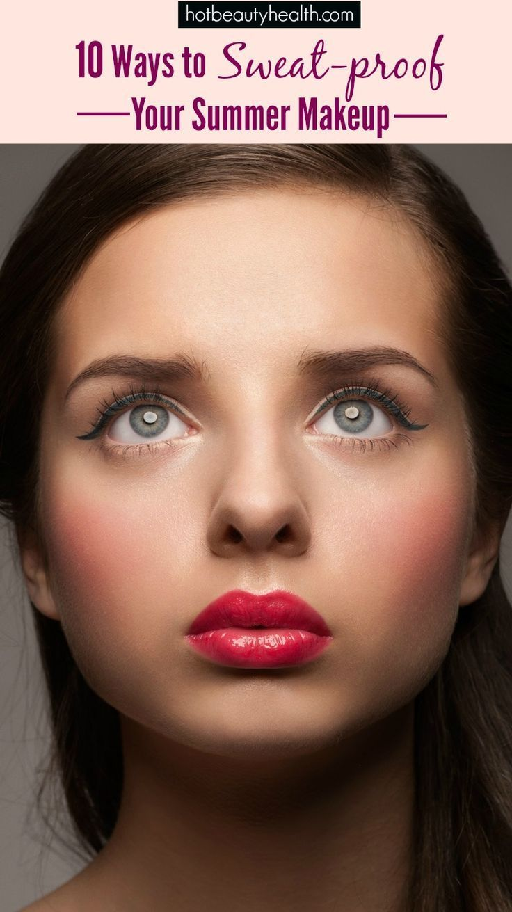 how to stop face sweating with makeup