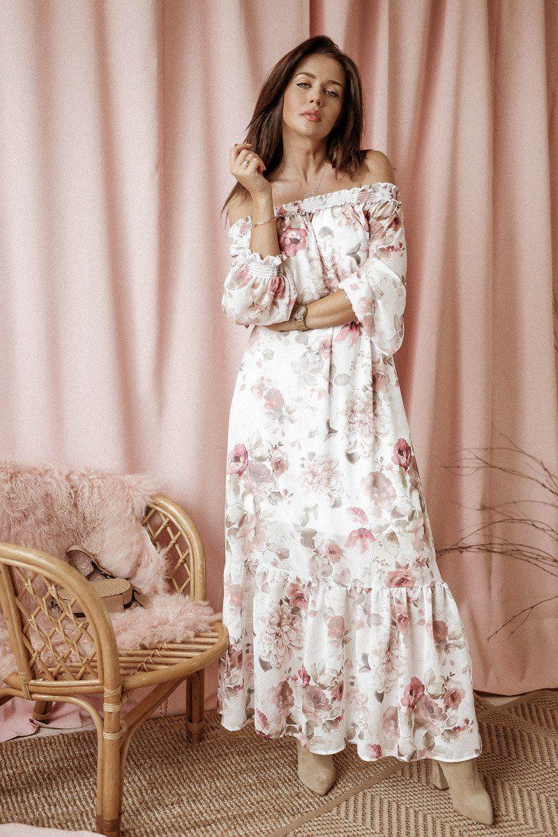 Sukienka Dluga Catherine Biala W Kwiaty Biala W Kwiaty Nowosci Kategorie Sukienki Kategorie Pokaz Wszystkie S Dresses With Sleeves Maxi Dress Dresses