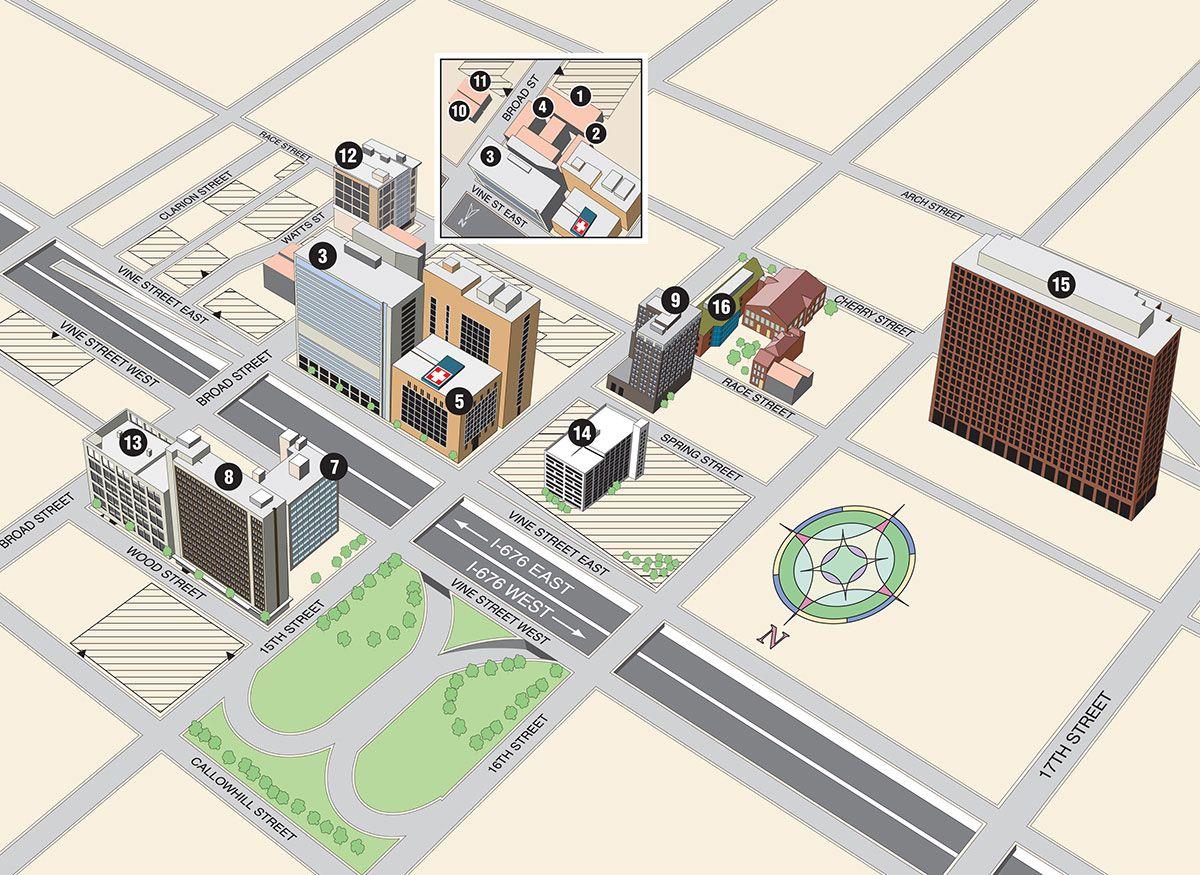 Center City Campus Map | Drexel University | I'm a Dragon | Campus on