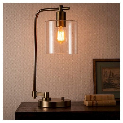 Hudson Industrial Table Lamp Antique Brass - Threshold ...