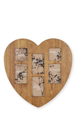 6 Aperture Wooden Heart Frame by Next   Next   All You Need is Love ...