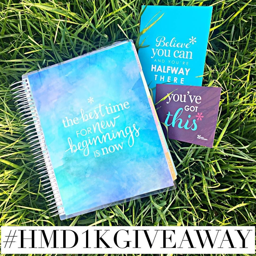 GIVEAWAY TIME!!!   I was going to wait till we actually hit 1k but we are so close and I'm so excited to do this giveaway o couldn't wait any longer!!! I wanted to say THANK YOU to everyone that has made such an impact to not just my shop but to me! I have LOVED getting to know all of you and being in the #plannercommunity  So let's get down to what you can win!!!  A 2016 Erin Condren Life Planner (Hourly Layout!) $25 shop credit  Now here is how to win...  Must be a follower Repost photo…