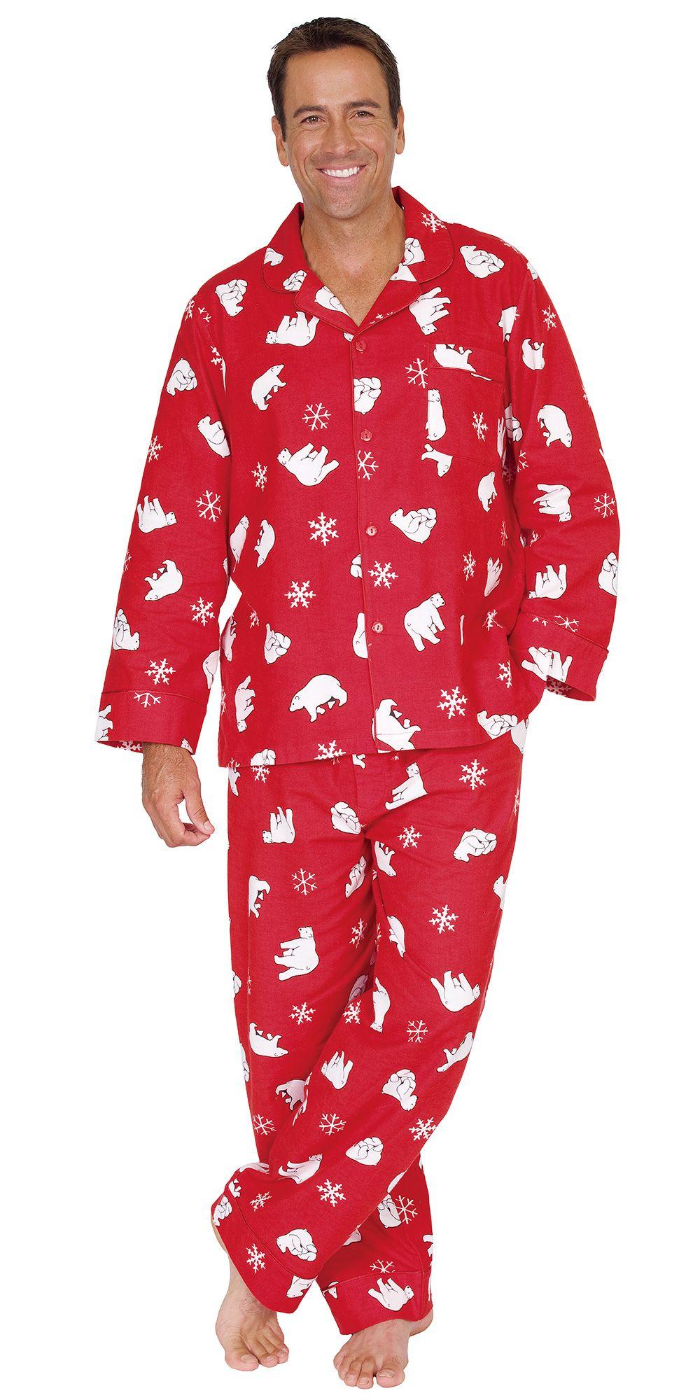 Mens Red Flannel Pajamas | fashjourney.com | Mens Pajamas ...