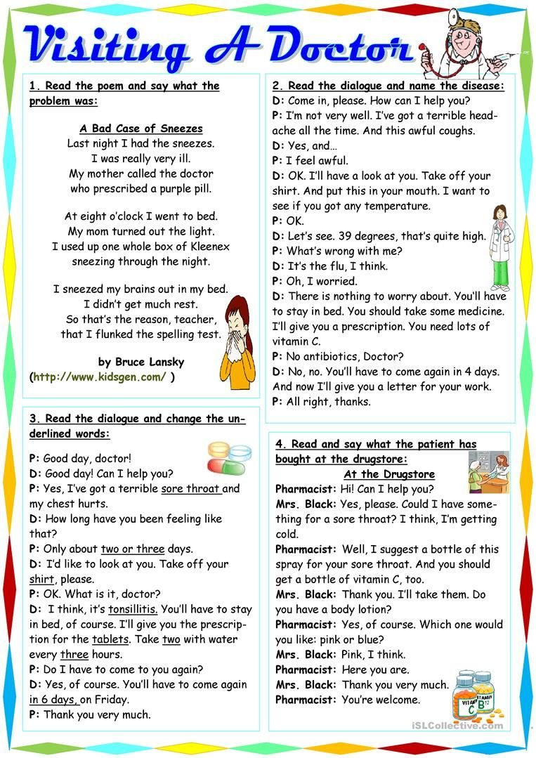 Visiting A Doctor Worksheet Free Esl Printable Worksheets Made By Teachers Learn English English Language Teaching English Vocabulary [ 1079 x 763 Pixel ]
