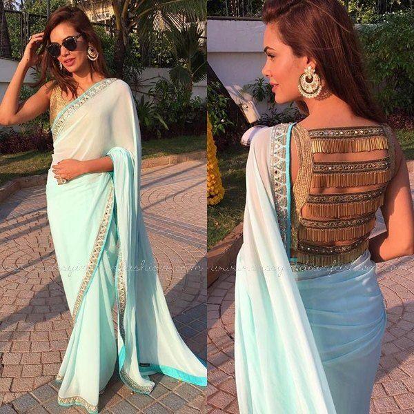 Celebrity Wedding Guest Outfits 2019: Esha Gupa In Saree, Celebrity In Arpita Mehta Saree