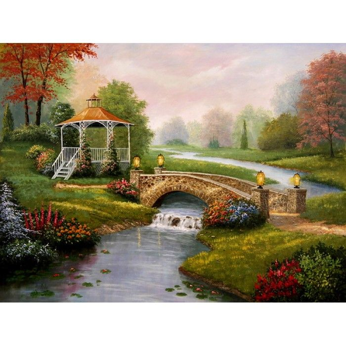 On sale garden pavillion house and garden hand painted oil paingings for sale for Garden pavilion crossword clue