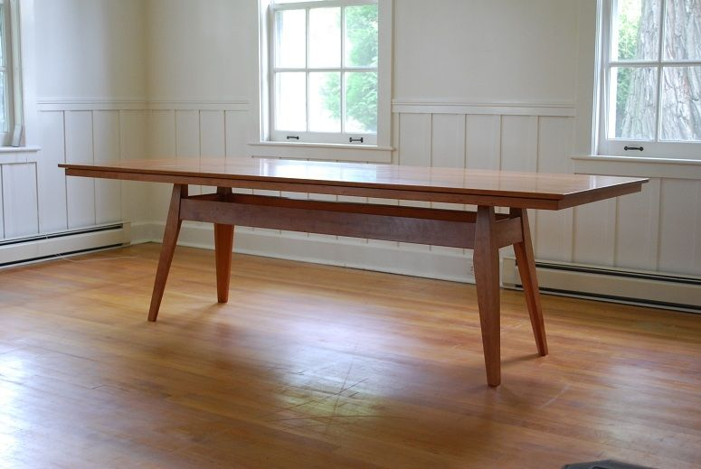 Cherry Dining Table Custom Made Website Midcentury Modern
