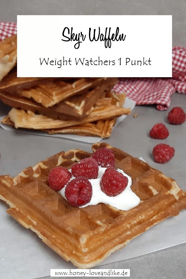 Photo of Weight Watchers Skyr Waffeln mit Bananen und Roggenmehl