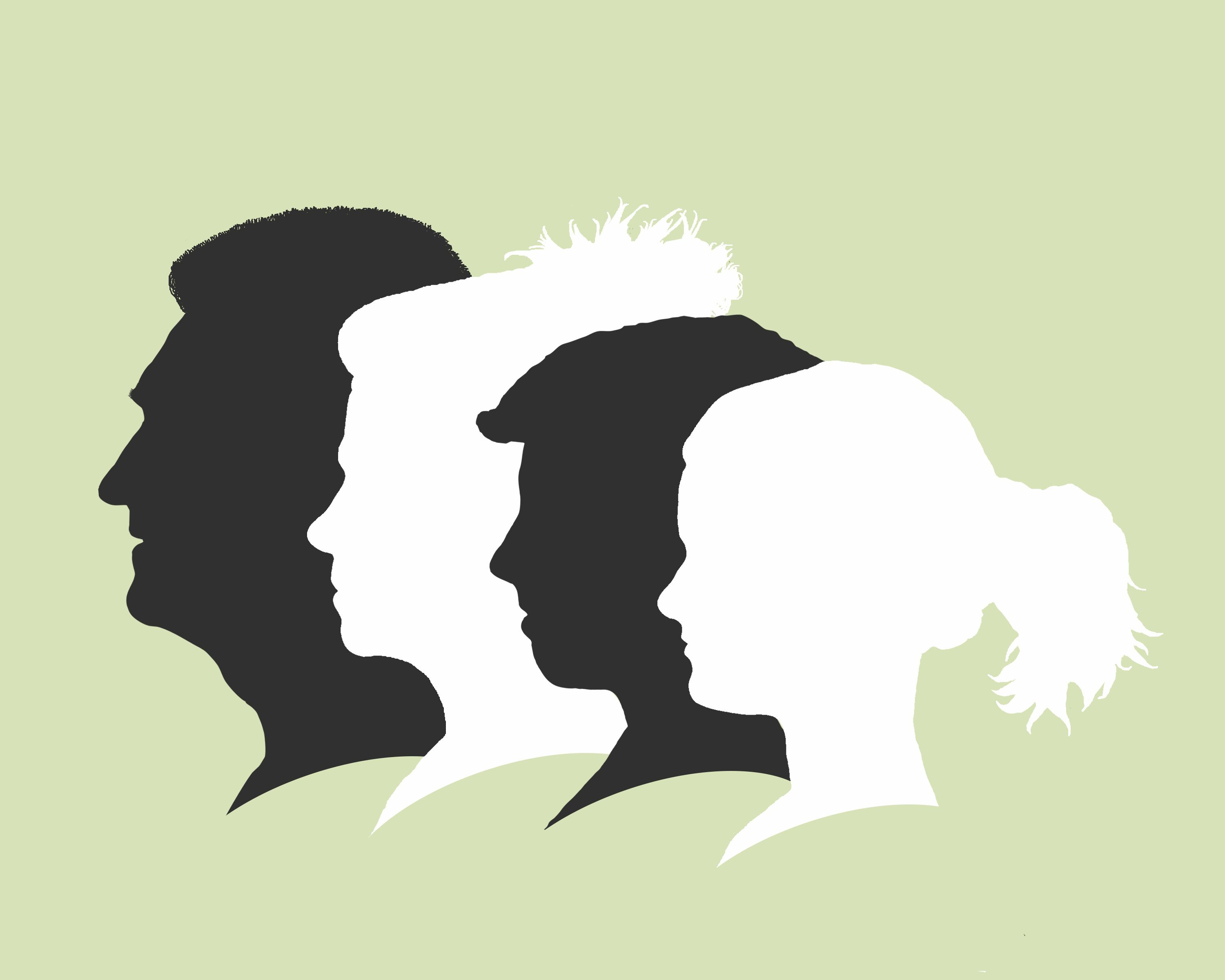 76f3e64fbc5 Would love to make one for my family... Family silhouette portrait - modern  cameo style