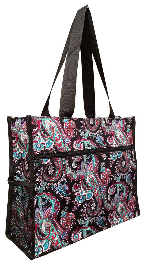Vibrant Paisley 16 Inch Tote Bag Chicks Discount