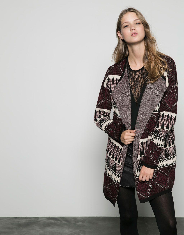 430e11a7755d Bershka fine jacquard jacket with stripes - Sweaters   Cardigans - Bershka  Serbia