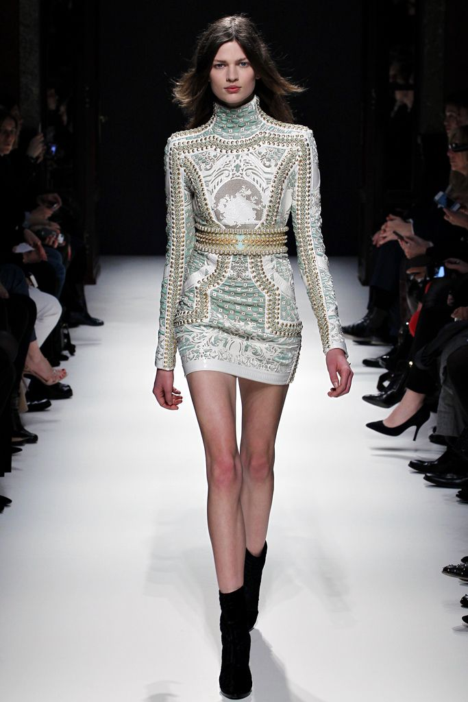 f2c10452 ... long-sleeve dress - Runway. Balmain Fall 2012 Ready-to-Wear Collection  Slideshow on Style.com
