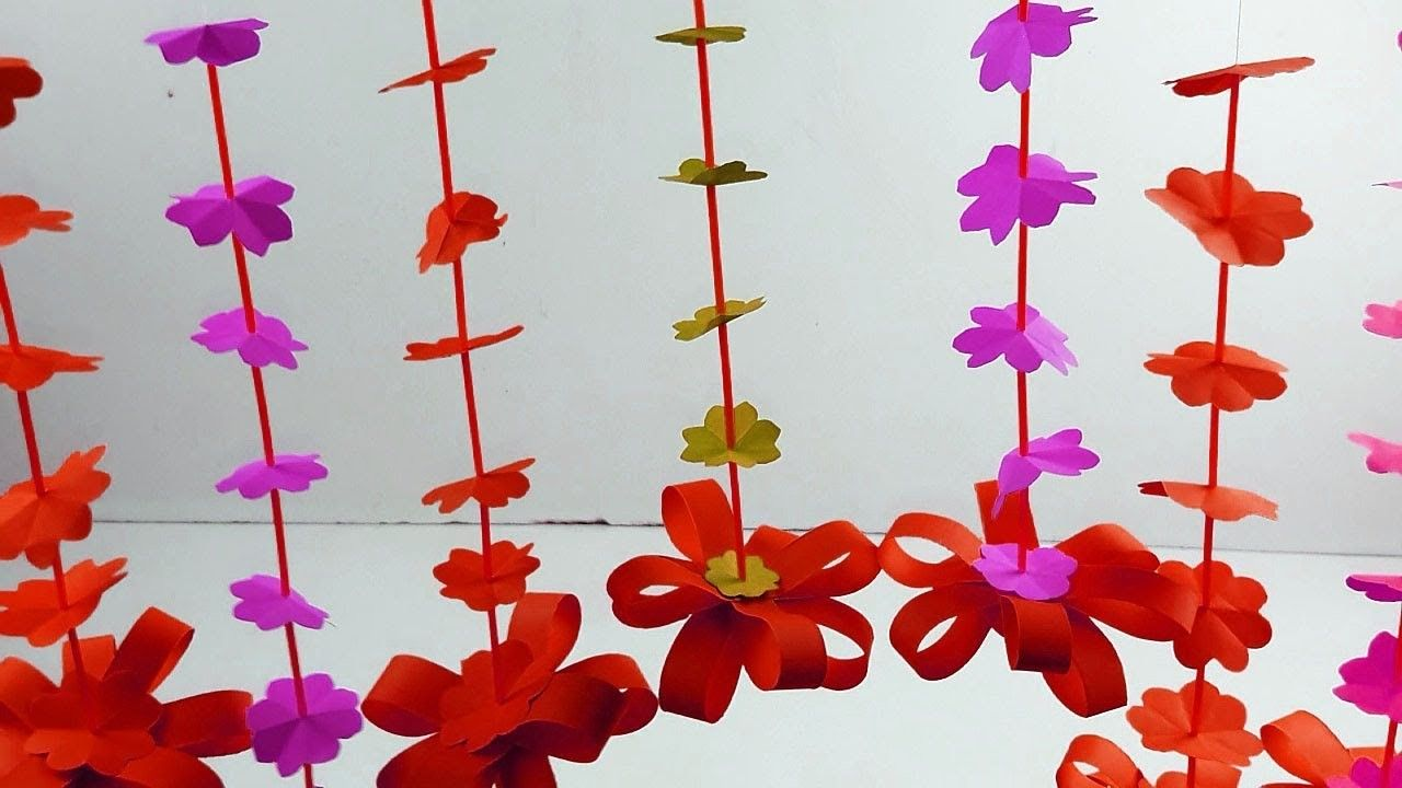 How to Make Wall Decoration with Paper | Paper walls, Wall ...