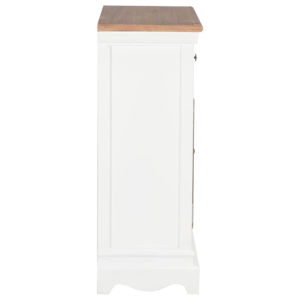 Vida Sideboard White 60x30x80 Cm Solid Wood
