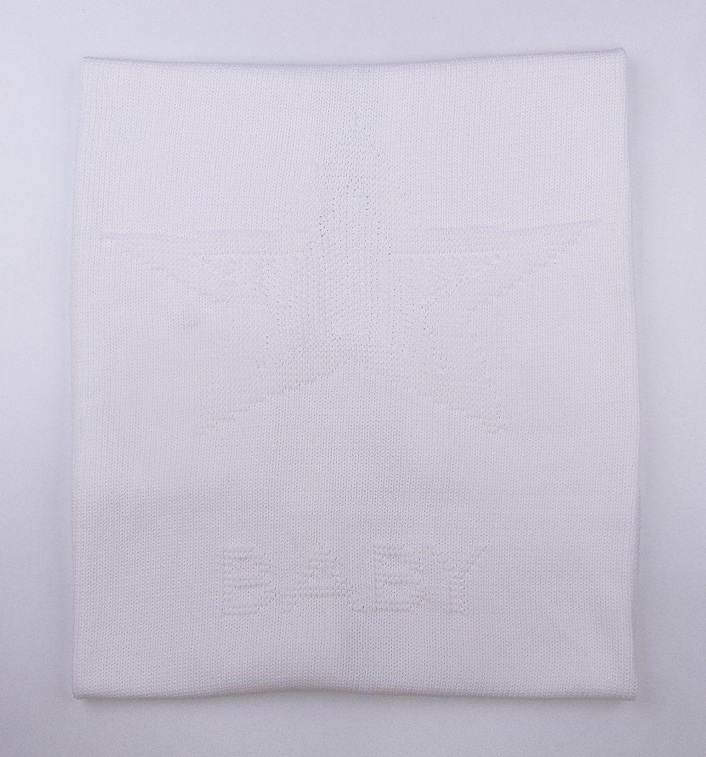 Organic Cotton Knitted Baby Blanket White Babydecke Baumwolle Baby