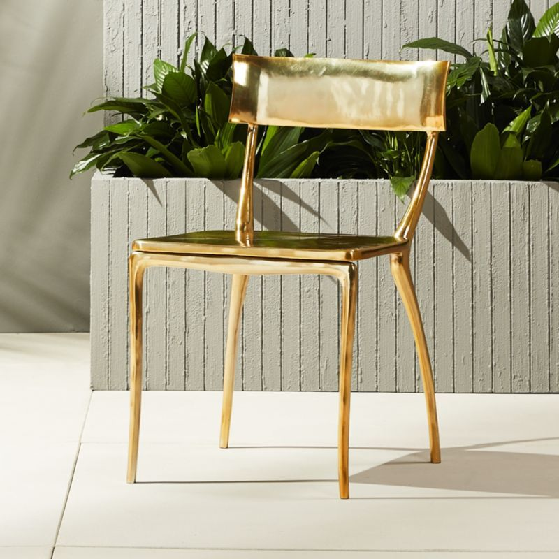 Shop Midas Gold Dining Chair The Definition Of Patio Chic Metal