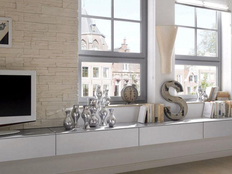 steinwand-wohnzimmer-Verblendsteine-creme-weisse-wohnzimmermoebel ...
