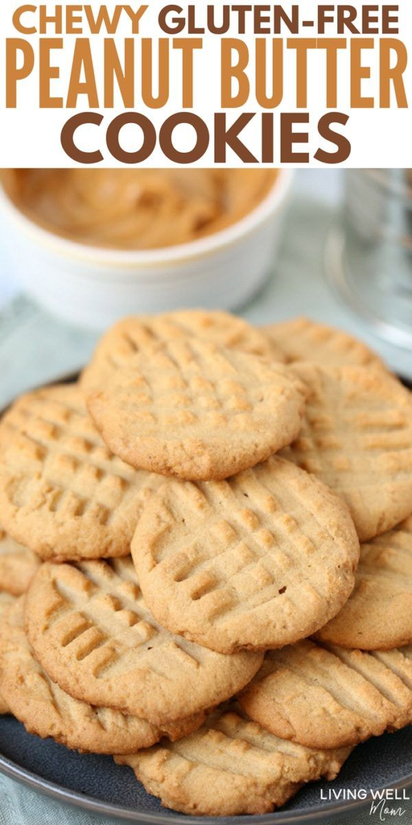 Chewy Gluten-Free Peanut Butter Cookies #glutenfree