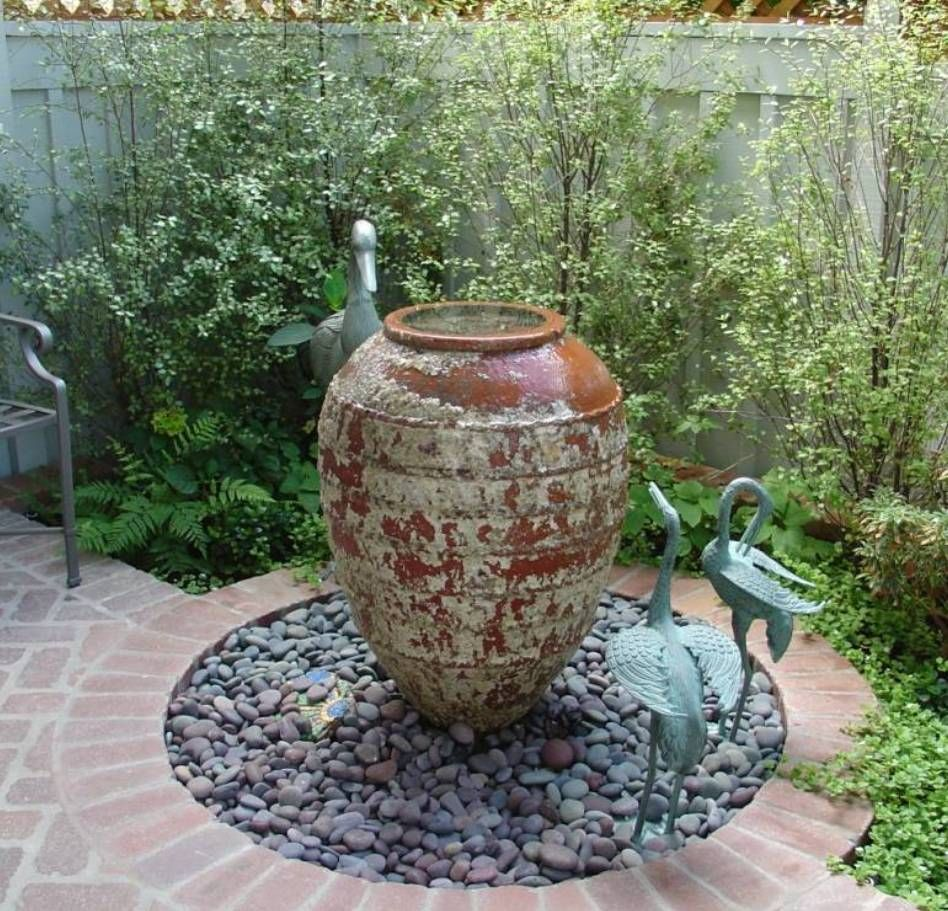 Garden and lawn outside water feature small garden ideas for Garden fountains and water features