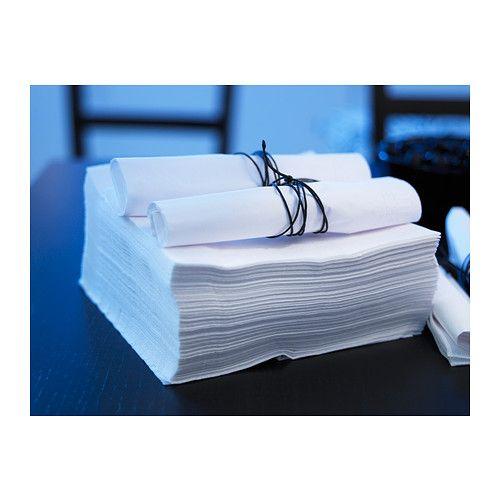 fantastisk serviettes en papier blanc 40 x 40 cm. Black Bedroom Furniture Sets. Home Design Ideas