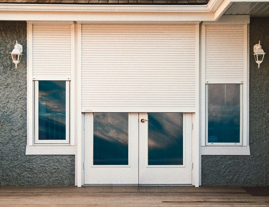 Doors and windows with images security shutters