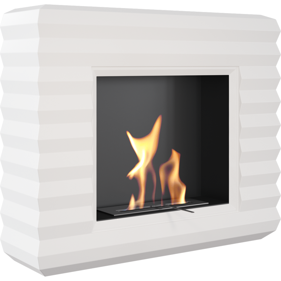 Peoria White Freestanding Bio Ethanol Fireplace Ethanol Fireplace Bioethanol Fireplace Contemporary Fireplace
