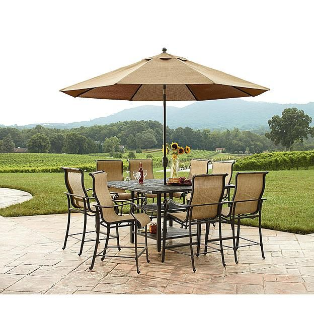 Agio Panorama Outdoor 9 Piece High Dining Patio Set Sears Outlet