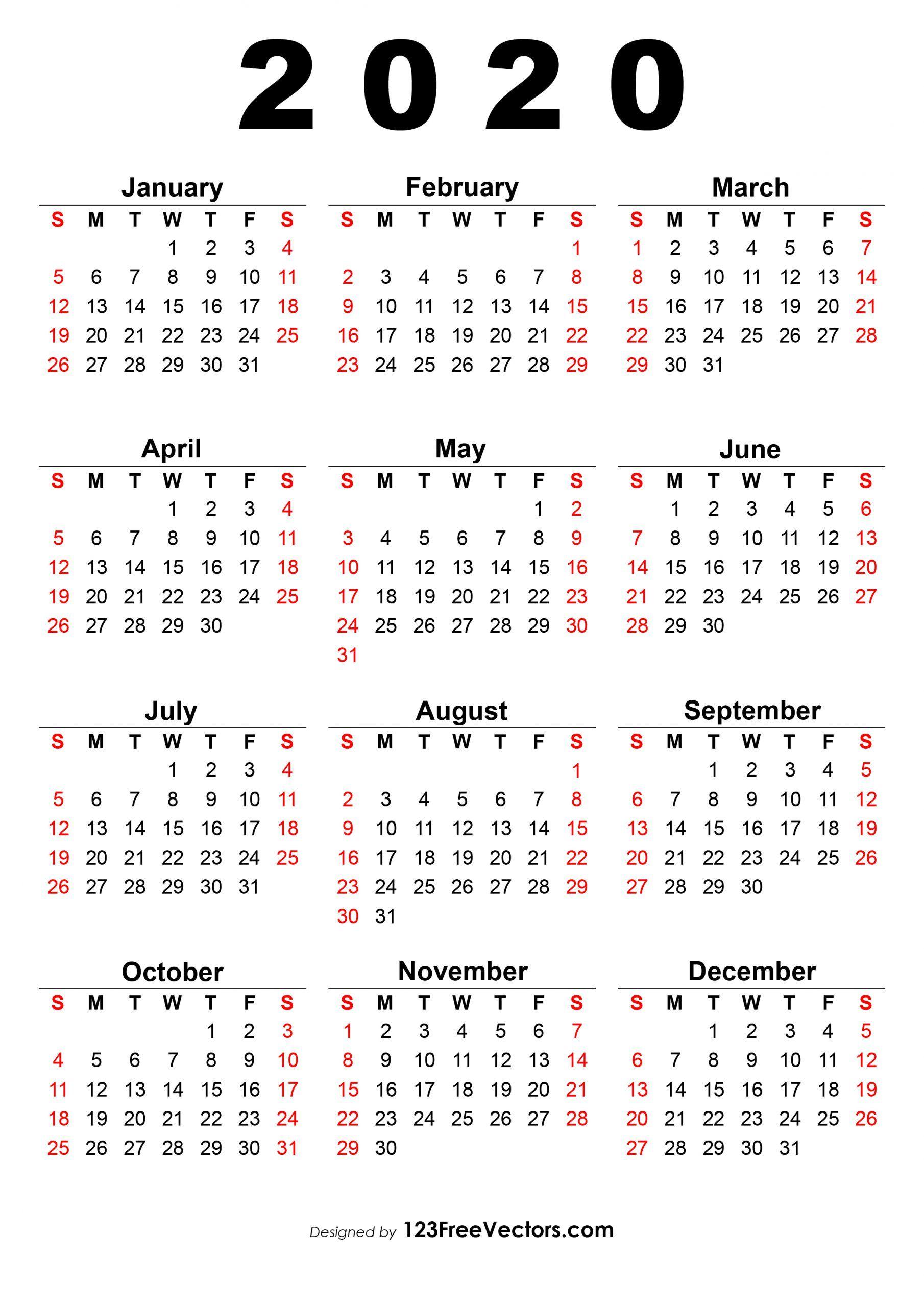 Pick Calendar 2020 Romanesc Pdf Printable Yearly Calendar Calendar 2019 Printable Print Calendar