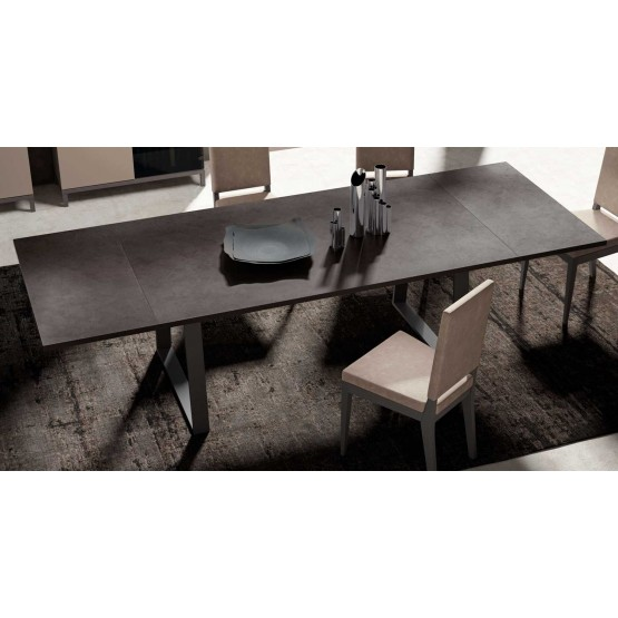 Kali Modern Rectangular Wood Extendable Dining Table By Status