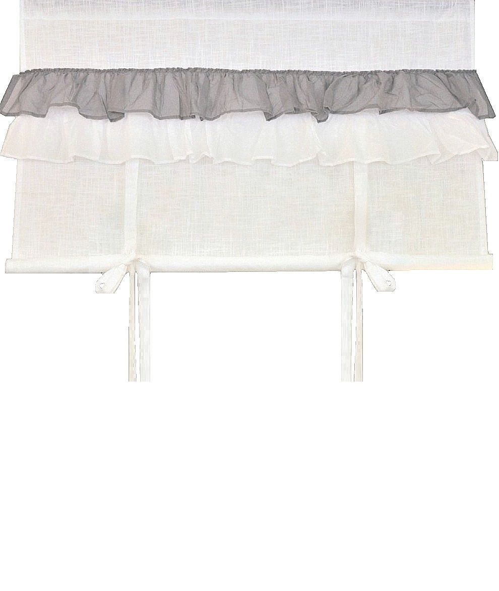 hissgardin vit med volanger shabby. Black Bedroom Furniture Sets. Home Design Ideas