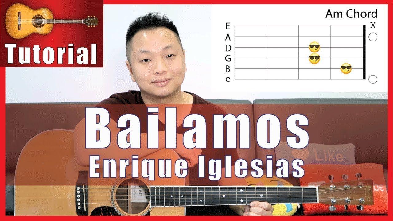 Bailamos guitar tutorial enrique iglesias easy no