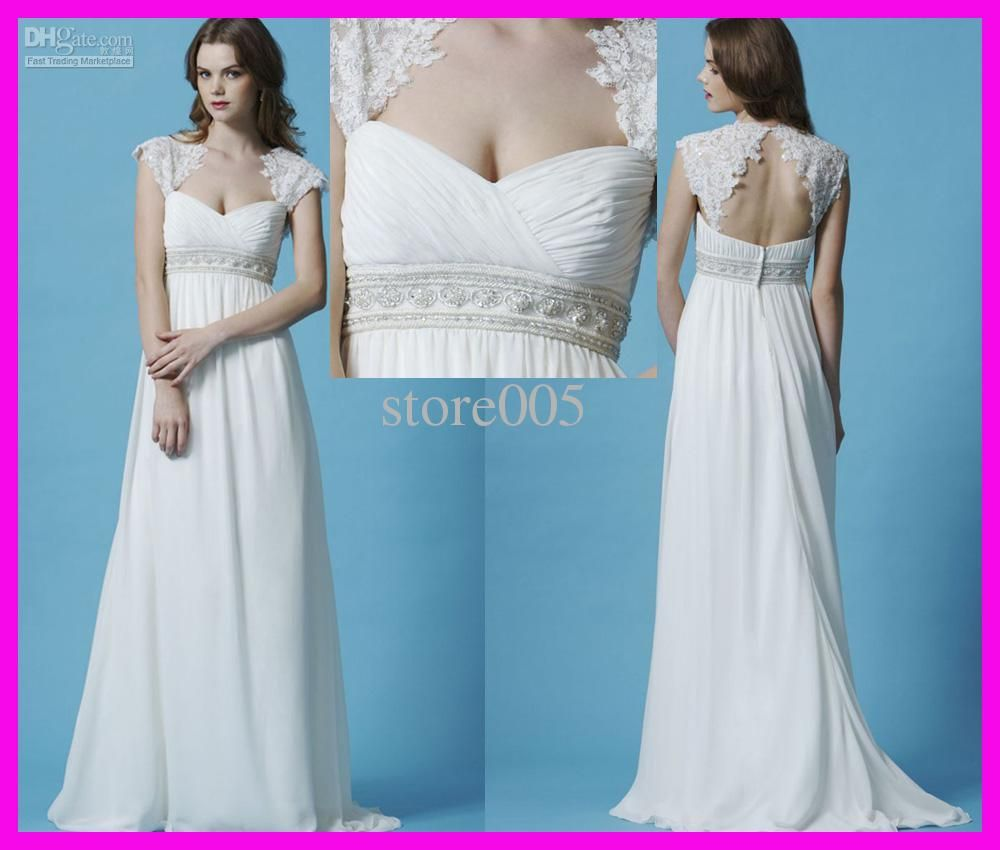 2016 White Wedding Gowns For Pregnant Women Maternity Bridal Dresses ...