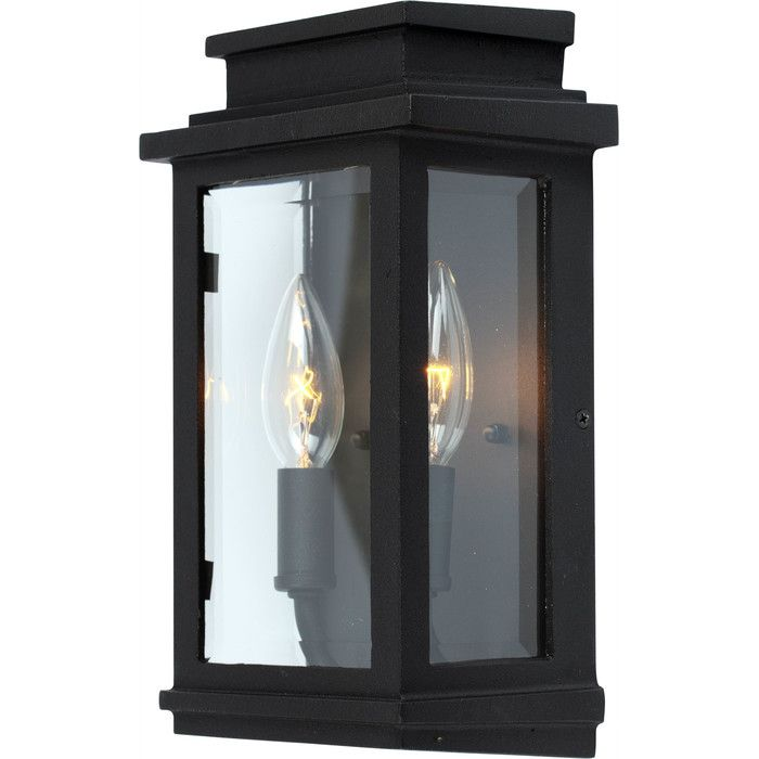 artcraft fremont black twolight high outdoor wall sconce