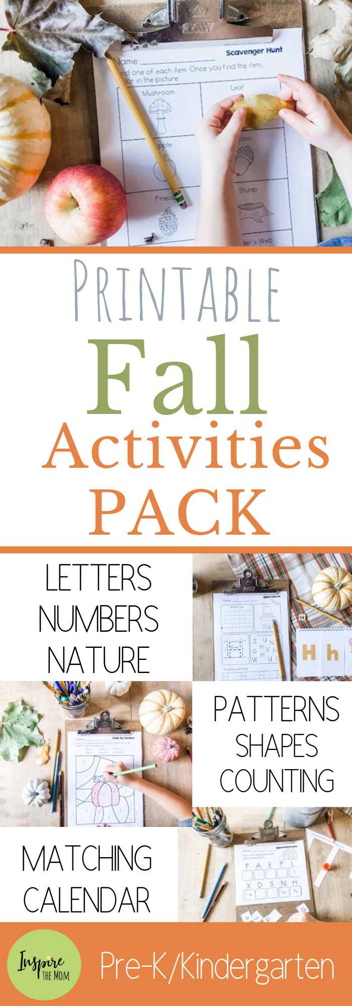 Huge Fall Activities Pack for Pre-k and Kindergarten - Inspire the Mom Awesome,Huge, Fall Activitie