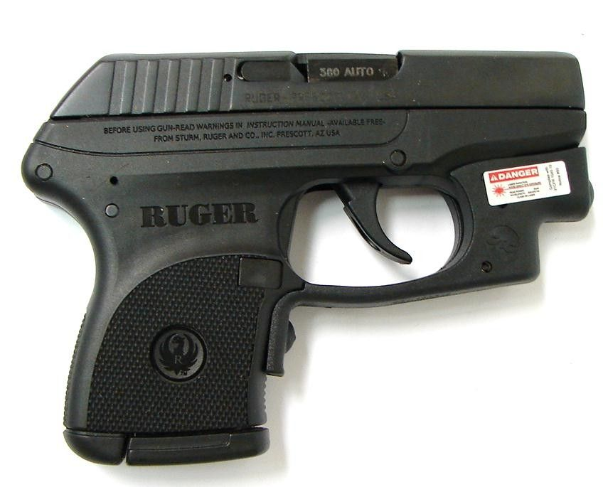 Ruger LCP  380 ACP caliber pistol  Blued model with Crimson