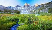 Landscape Paintings Nature by Margaret J Rocha   Landscape nature fineart painting for sale.