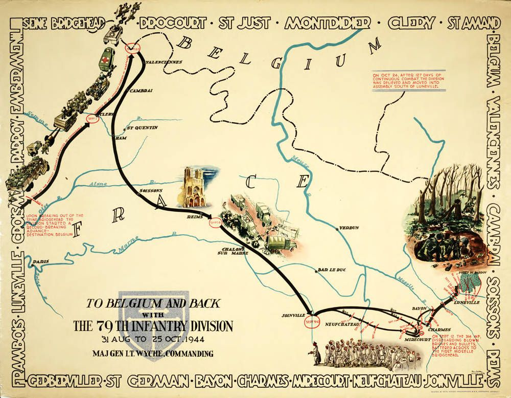 79th infantry division of the us army cross of lorraine infantry division of the us army cross of lorraine northern france campaign map of world war ii gumiabroncs Choice Image