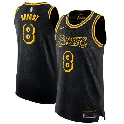 914791090cd Men s Los Angeles Lakers 8 Kobe Bryant Nike Black Authentic Jersey – City  Edition