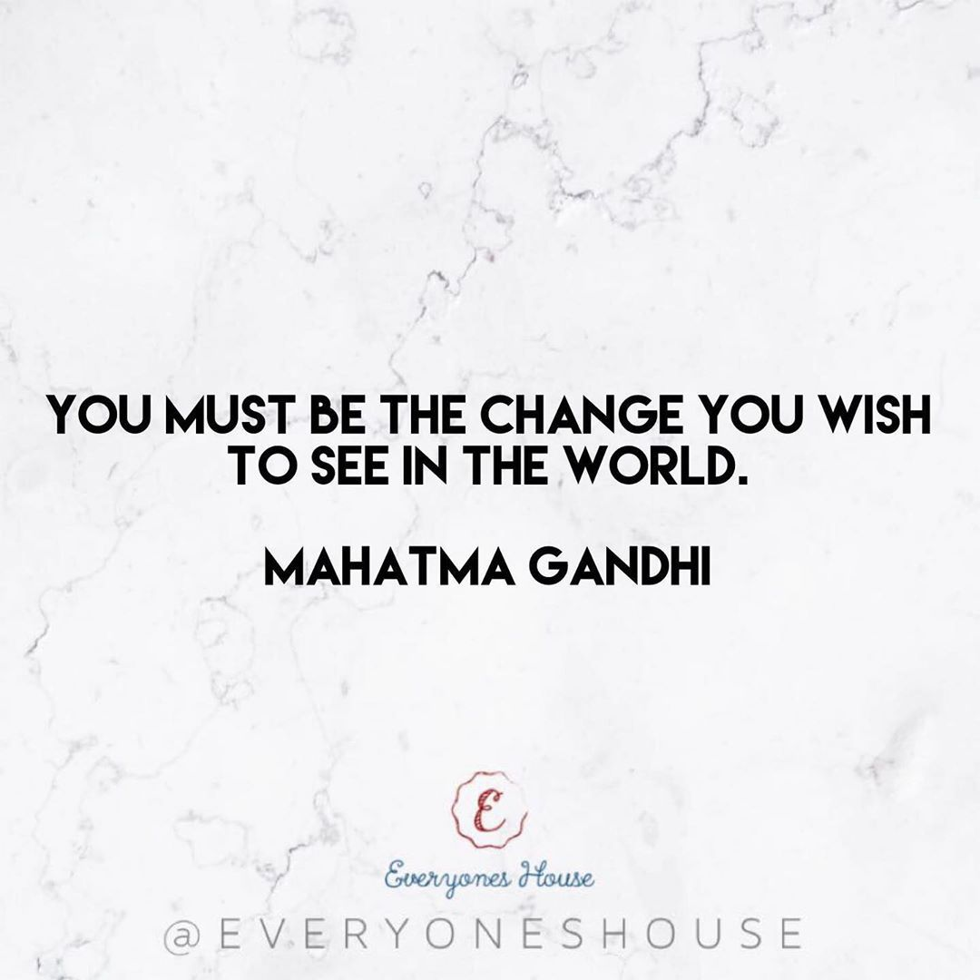 You must be the change you wish to see in the world. • Mahatma Gandhi💘 .    #motivation     #fitness...