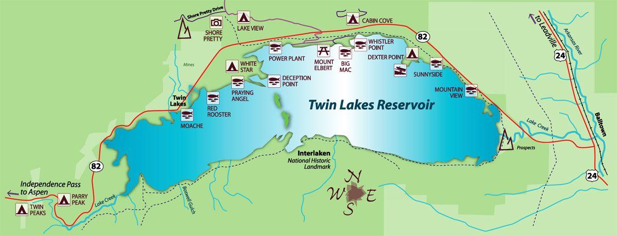 map of twin lakes Twin Lakes Map Twin Lakes Colorado Twin Lakes Vacation Guide map of twin lakes