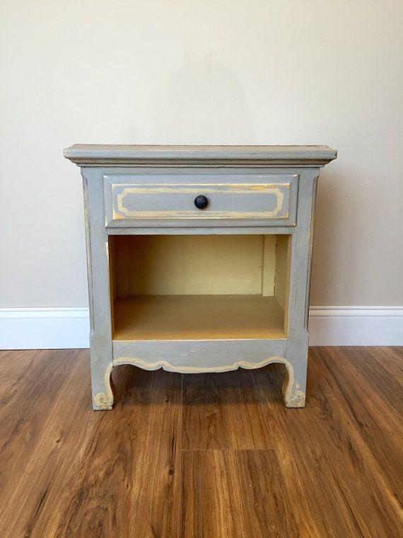 Best Grey Nightstand Small Nightstand Distressed Furniture 400 x 300